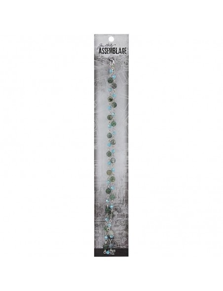 Tim Holtz Assemblage Metal Chain, Artic Blue