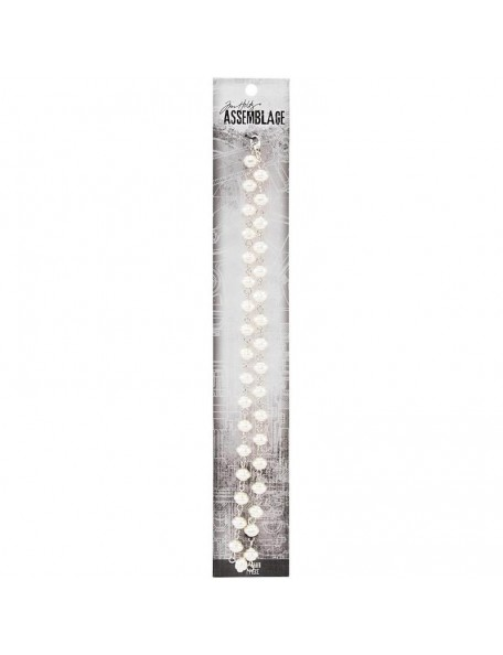 Tim Holtz Assemblage Bead Chain, Swirly Pearl