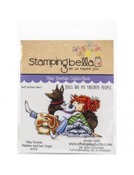 Stamping Bella Cling Stamps, Tiny Townie Dawn Loves Her Doggie