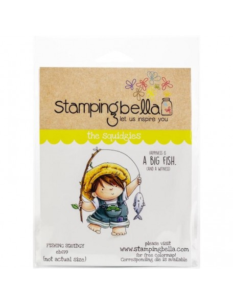 Stamping Bella Cling Stamps, Fishing Squidgy