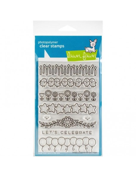 """Lawn Fawn Clear Stamps 4""""X6"""", Simply Celebrate"""