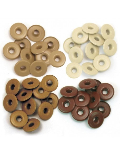 We R Memory Keepers ojales/Eyelets anchos Brown/Marron, 10 de cada color, total 40