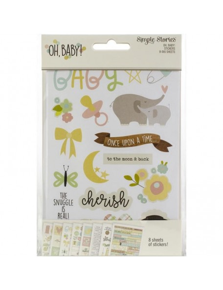 "Simple Stories Let's Party Chipboard Stickers 6""X12""-"