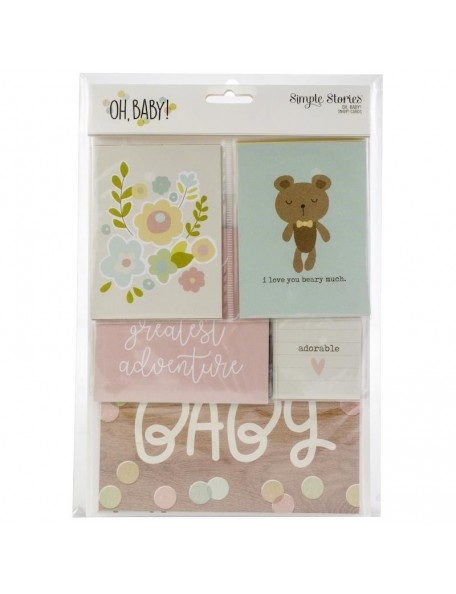 Simple Stories Oh Baby! Sn@p! Card Pack 48