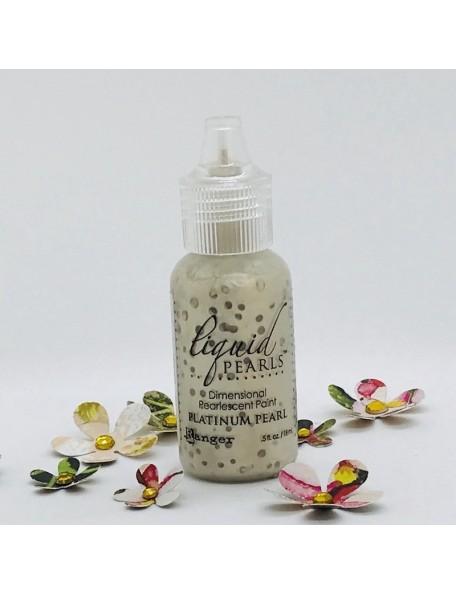 Ranger Liquid Pearls Dimensional Pearlescent Paint .5oz, Platinum