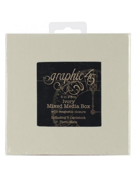 Graphic 45 Ivory Mixed Media Caja Album