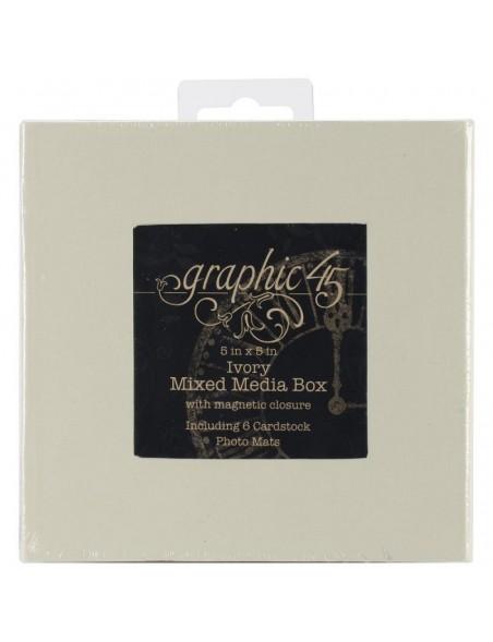 Graphic 45 - Ivory Mixed Media Caja