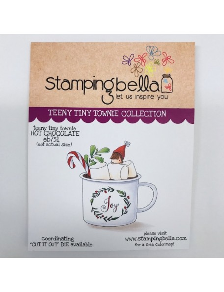 Stamping Bella Cling Stamps, Teeny Tiny Townie Hot Chocolate