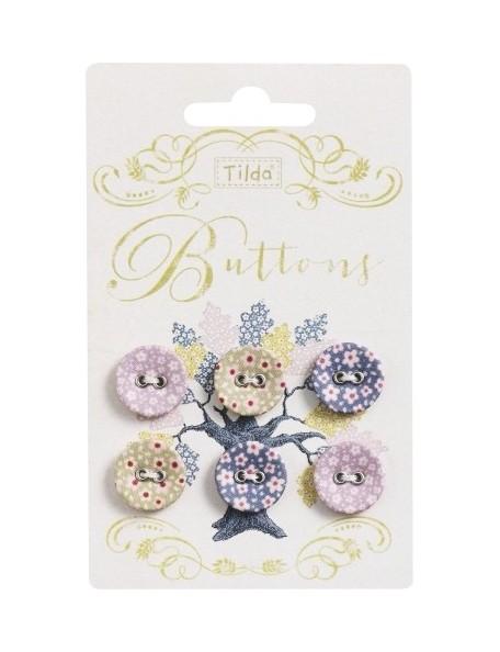 Tilda pack de 6 botones Autumntree 17mm