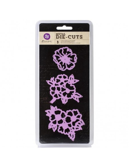 "Prima Marketing Purple TROQUEL Open Flowers 3"" 3 PZAS"