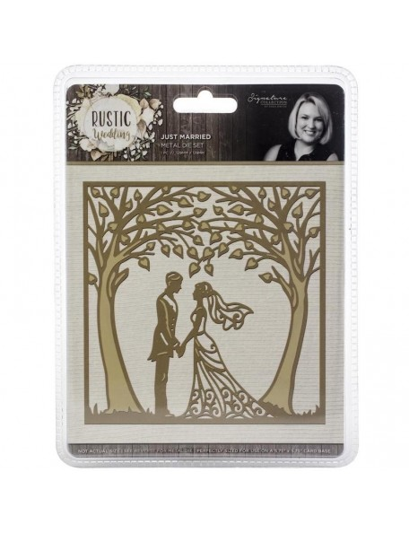 Crafter's Companion Rustic Wedding Die-Just Married