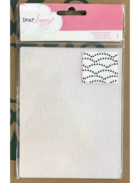 American Crafts Dear Lizzy Carpeta de Embossing A2, Daydreamer Banners