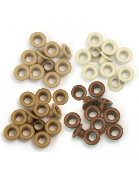 We R Memory Keepers Eyelets Standard 60 Marron, 15 de cada color
