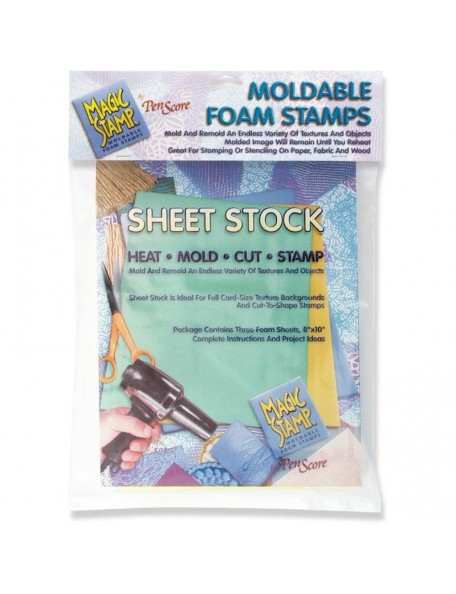 Magic Stamp Moldable Foam Stamps 3, Sheet Stock