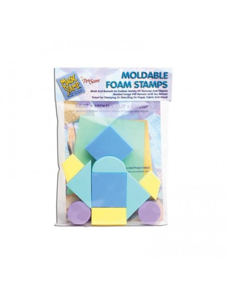 Clearsnap Magic Stamp Sellos de espuma moldeable 10, Formas Geometricas/Geometric