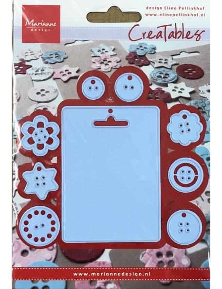 """Marianne Design Troquel Tag y Bottones 0.75"""" To 2""""X3"""" DESCATALOGADO"""