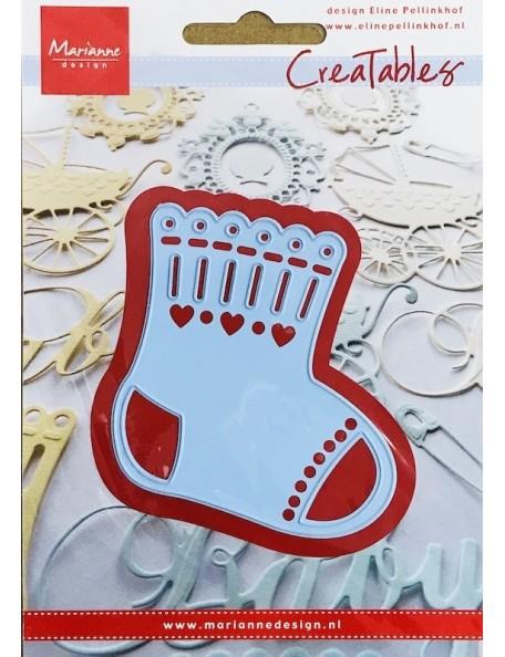 "Marianne Design Creatables Troquel Calcetín de bebé, 2.5""X3"""