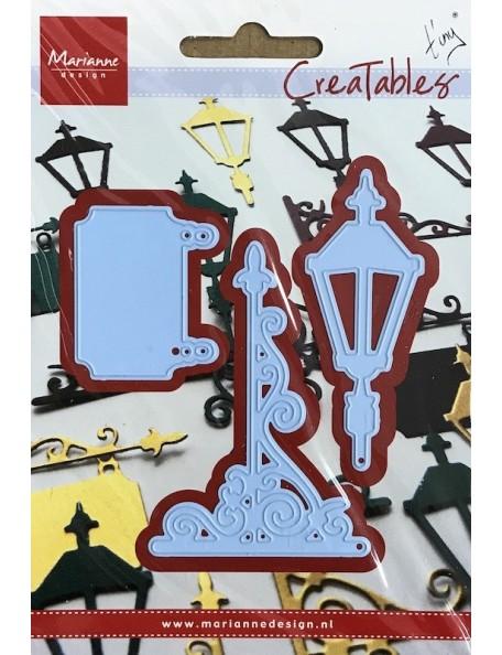 """Marianne Design Creatables Troquel Linterna y Cartel, hasta 2""""X3"""" DESCATALOGADO"""