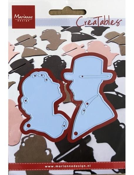 """Marianne Design Creatables Troquel Lord y Lady Silhouetas, 1.61"""" To 2.91"""" DESCATALOGADO"""