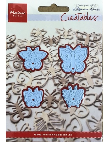 "Marianne Design Creatables Troquel Mariposas/Butterflies, 1.18""X1.18"" DESCATALOGADO"