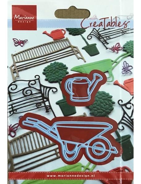"""Marianne Design Creatables Troquel Carretilla y Regadera, hasta 3.25""""X1.5"""