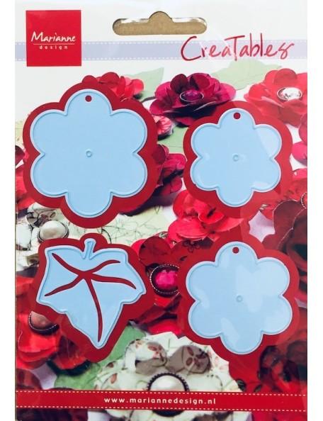 """Marianne Design Creatables Troquel Flores con Hoja, Tamaño aprox. 1/4""""x2 1/4"""", 1 1/2"""" - 4 5/8"""" - 1 3/4"""" DESCATALOGADO"""