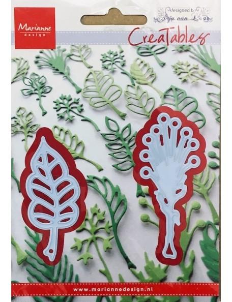 "Marianne Design Creatables Troquel Hojas de Anja's 3, hasta 2.5""X1"""