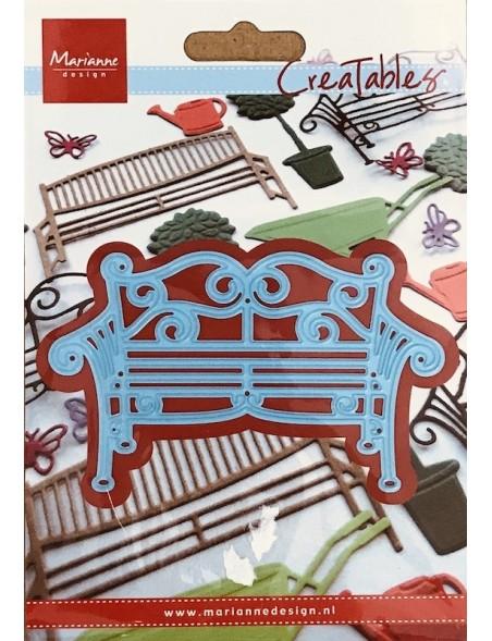 """Marianne Design Creatables Troquel Banco de jardín de metal, 4""""X1.75"""" DESCATALOGADO"""
