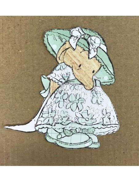 "Humphrey's Corner Sello/Rubber Stamp Set 3.75""X4"", Birthday Girl"