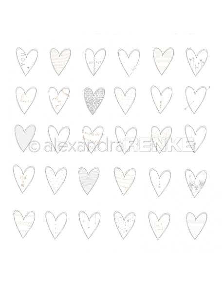 alexandra renke cardstock de una cara 30,5x30,5 cm, Herzen you