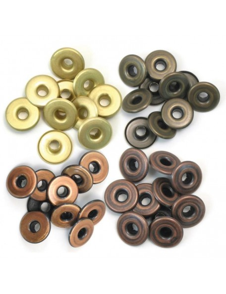We R memory keepers ojales/Eyelets ancho/Wide 40/Pkg-Cool Metal
