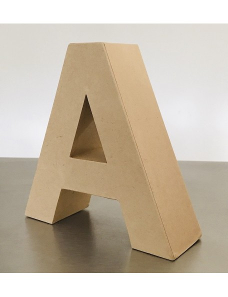 "satwa letra ""a"" color kraft 17,5x17,5x5,5cm"