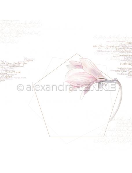 Alexandra renke cardstock de una cara 30,5x30,5cm, Magnolia pentagon/Magnolie Pentagon