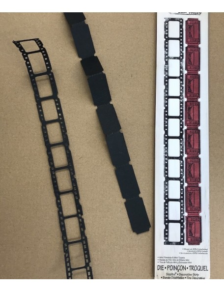 "Sizzix Sizzlits Decorative Strip Die By Tim Holtz -Filmstrip & Tickets 12.625""X2.375"""