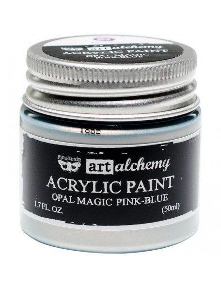 prima marketing Finnabair Art Alchemy Opal Magic Acrylic Paint1.7 Fl Oz, Opal Magic Pink/Blue