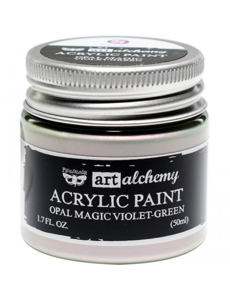 prima marketing Finnabair Art Alchemy Opal Magic Acrylic Paint1.7 Fl Oz, Opal Magic Violet/Green