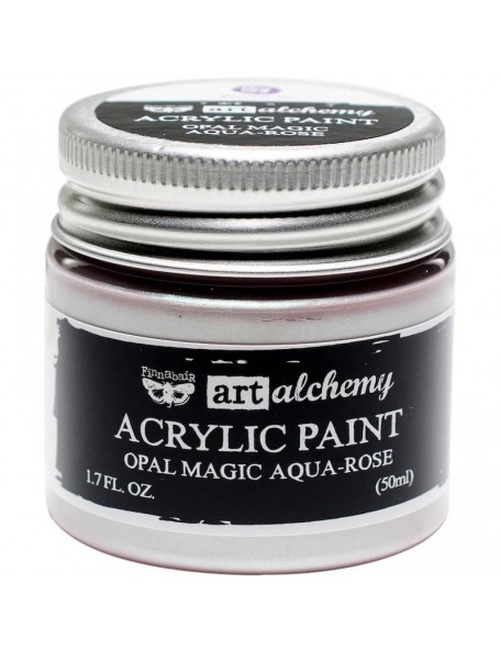 prima marketing Finnabair Art Alchemy Opal Magic Acrylic Paint1.7 Fl Oz, Opal Magic Aqua/Rose