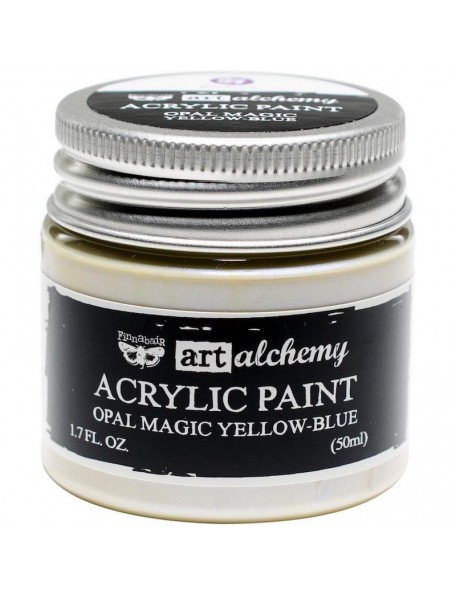 prima marketing Finnabair Art Alchemy Opal Magic Acrylic Paint1.7 Fl Oz, Opal Magic Yellow/Blue