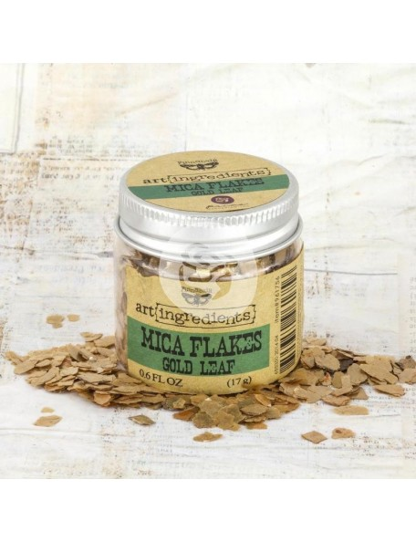 prima marketing Finnabair Art Ingredients Mica Flakes 1oz, Gold Leaf