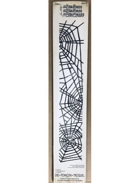 "Sizzix Sizzlits troquel decorativo de Tim Holtz, Telaraña/Cobwebs 12.625""X2.375"""