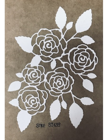 Memory Box Troquel English Rose Bouquet Style 99139