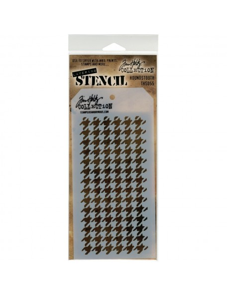 "Tim Holtz Layered Stencil 4.125""X8.5"", Houndstooth"