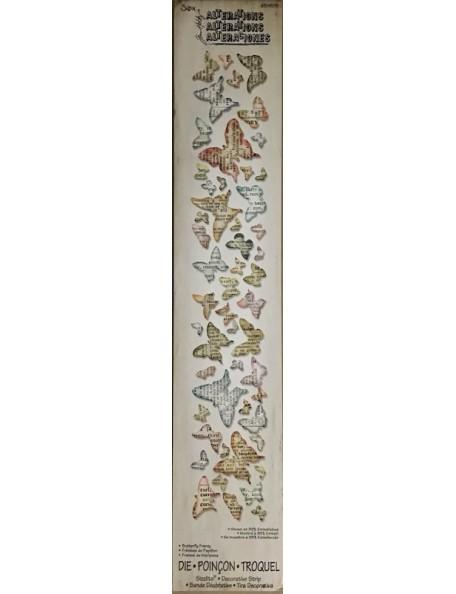 """Sizzix Sizzlits tira decorativa troquel de Tim Holtz, mariposas/Butterfly Frenzy .25"""" To 1.38"""""""