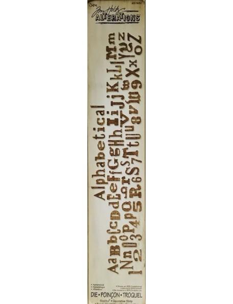 "Sizzix Sizzlits tira decorativa de Tim Holtz Alphabetical 12.625""X2.375"""