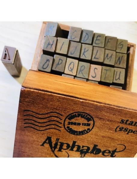 bobunny Kraft Sellos de madera del alfabeto, Mayúsculas/Upper Case