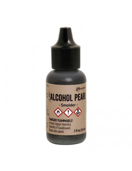Tim Holtz Alcohol Pearls .05oz, Smolder