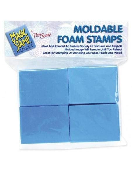 Magic Stamp Espuma moldeable para crear tus propios sellos 8 Blocs