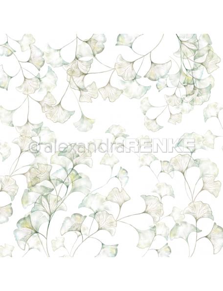 alexandra renke cardstock de una cara 30,5x30,5cm, Hojas de ginkgo/Ginkgo Blätter