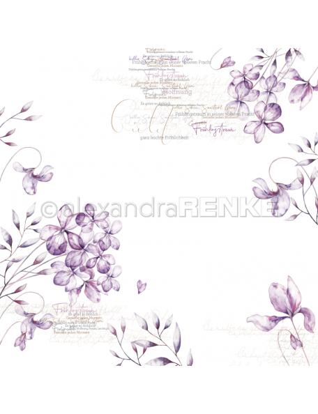 alexandra renke cardstock de una cara 30,5x30,5cm, violetas/Veilchenblüten