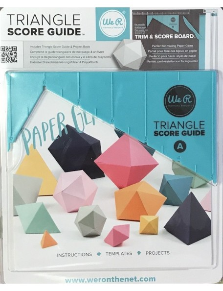 we r memory keepers guia para crear triangulos/Triangle Score Guide
